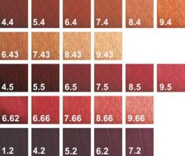 Three Colore - Haarverf- Rood/koper/violet serie 120ml