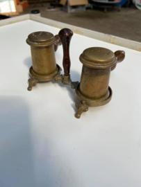 Koperen peper en zout setje