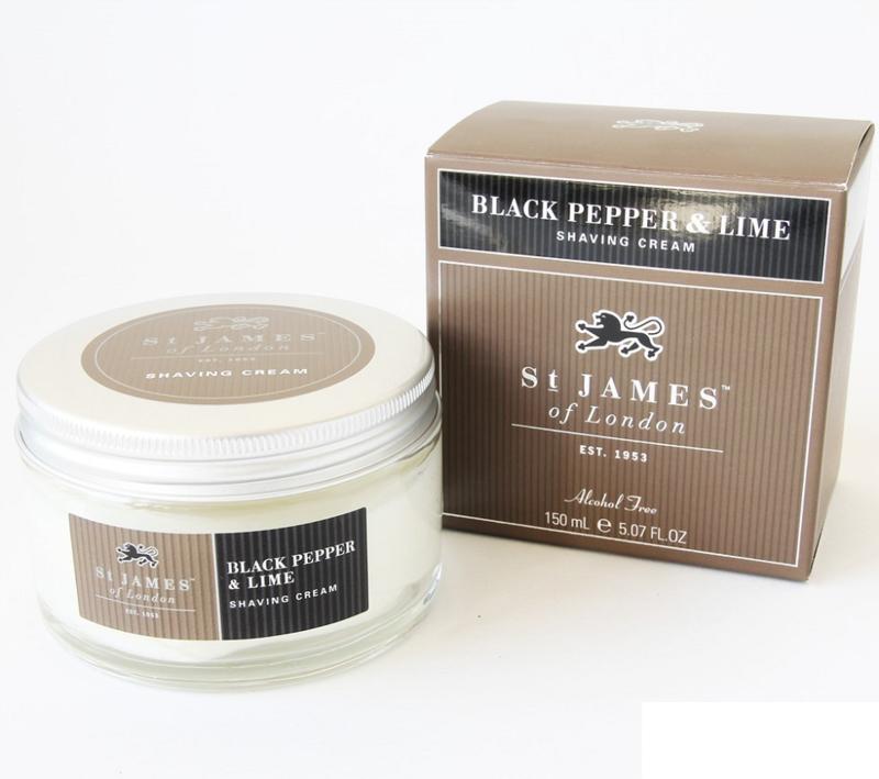 St James of London Black Pepper & Lime Scheercreme