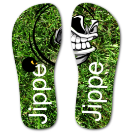 Slipper met naam voetbal