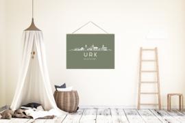 Textielposter skyline Urk