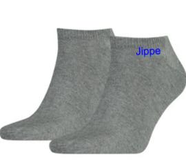 Sokken met naam grijs
