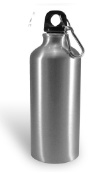 Bidon Aluminum met naam en foto zilver 400 ml