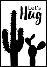 Let's hug poster