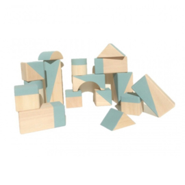 Breezy blue geometrische blokken