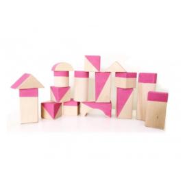 Bubble gum pink geometrische blokken