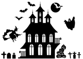 Halloween raamstickers