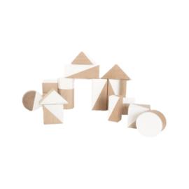 Witte geometrische blokken