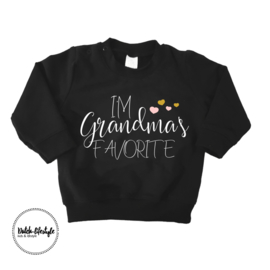 Grandma sweater zwart