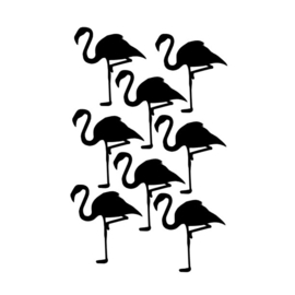 Muurstickers Flamingo