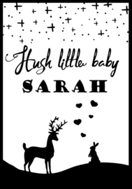 Hush little baby name poster