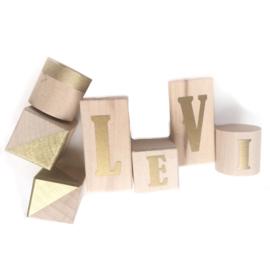 Letter blokken (diverse kleuren)