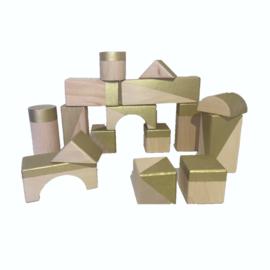 Gold geometrische blokken