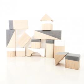 White & Grey concrete look geometrische blokken