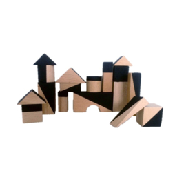 Zwarte geometrische blokken