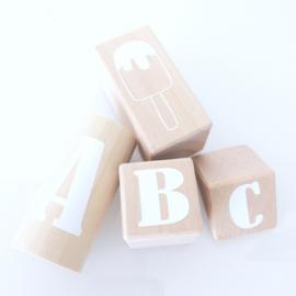ABC blokken WHITE