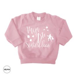 """Mijn eerste sint sweater """"Pink"""""""