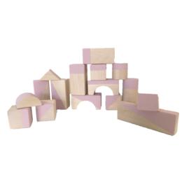 Dusty pink geometrische blokken