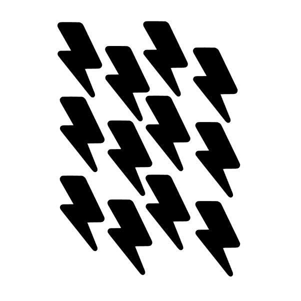 Wallstickers lightning