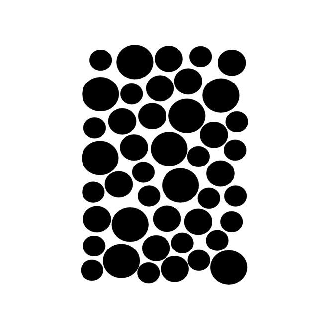 Muurstickers dots