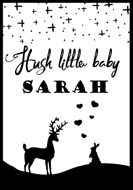 Hush little baby name poster