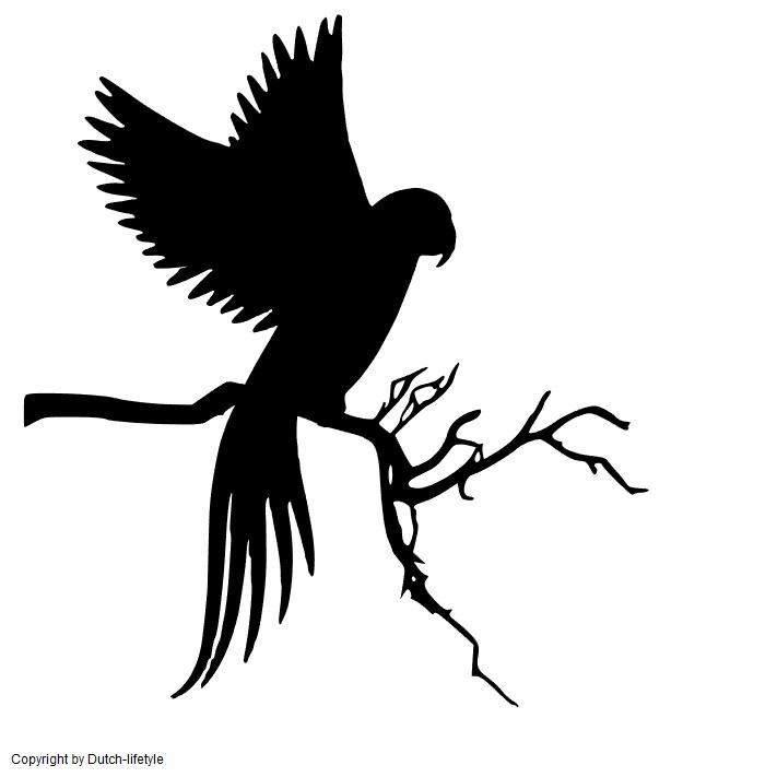 Papegaai muursticker