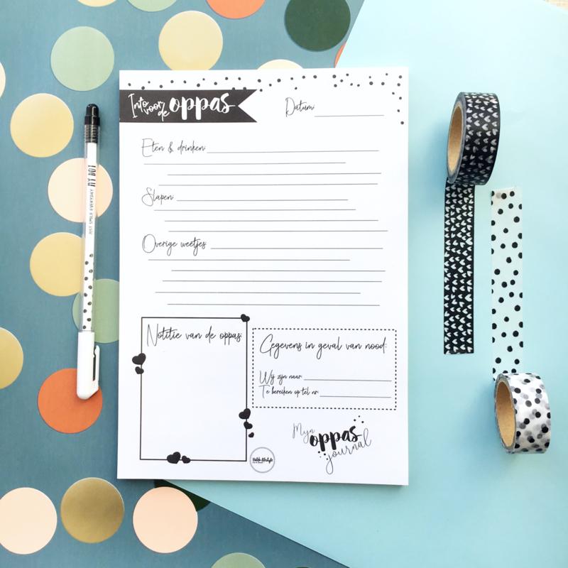 Mijn oppas journal