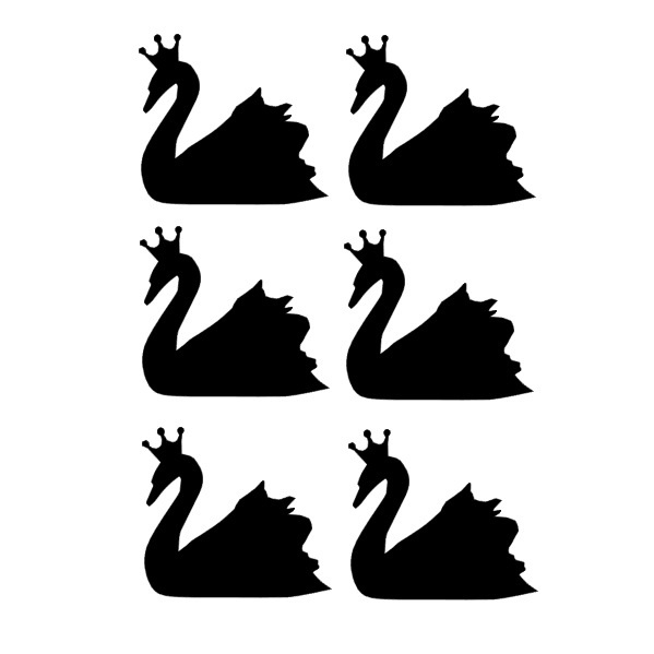 Muurstickers swan