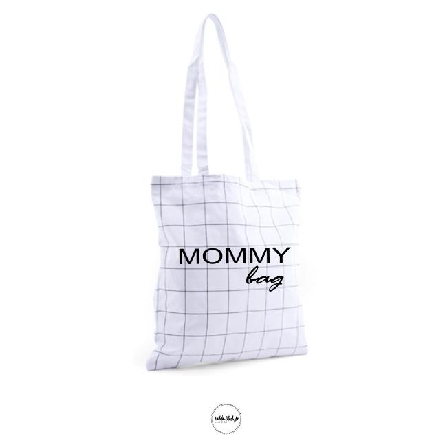 """Mommy bag""Grid canvas tas"