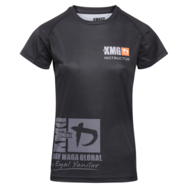 KMG Performance T-shirt - Sublimatiedruk - Instructor - Zwart - Dames