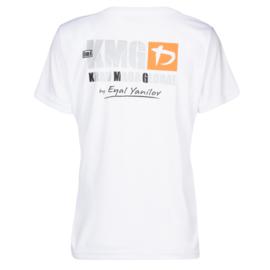 KMG T-shirt - dry-fit - white - ladies