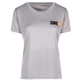 KMG T-shirt - dry-fit - light grey - ladies