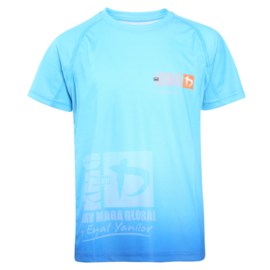 KMG Performance T-shirt - Sublimatiedruk - Young 8-10 jaar - Zeeblauw - Unisex