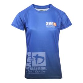 KMG Performance T-shirt - Sublimatiedruk - Teenager 14-16 jaar - Dark Navy - Dames
