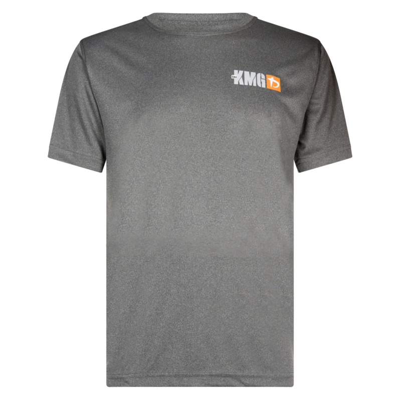 KMG T-shirt, dry-fit, dark grey