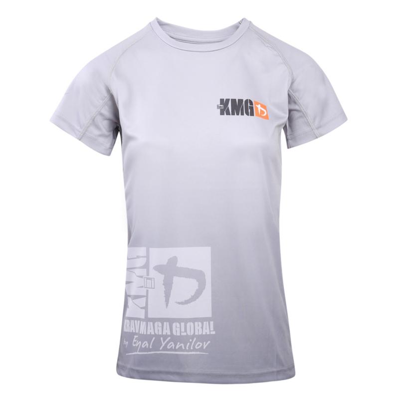 KMG Performance T-shirt - Sublimatiedruk - P3/P4/P5 - Lichtgrijs - Dames