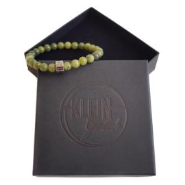 Dames armband groene Jade