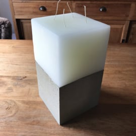 Meerpits kaars met betonnen houder XL