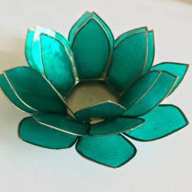 Lotus sfeerlicht groen/goud