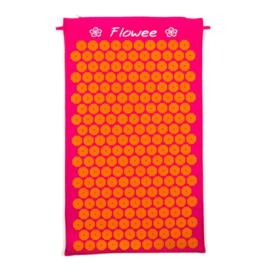 Flowee spijkermat fuchsia-oranje groot