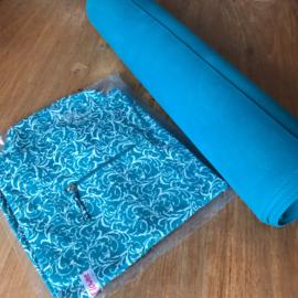 Flowee Yoga tas schoudermodel full print turquoise