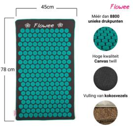 Flowee spijkermat - Luxe met kokosvulling - Grijs/Groen