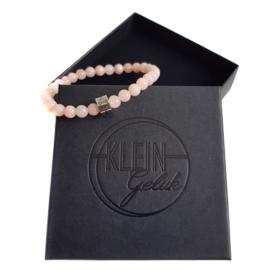 Dames armband licht roze agaat