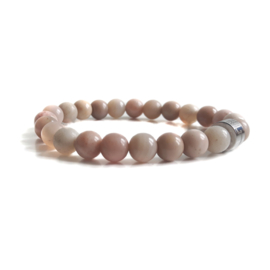 Dames armband beige zonnesteen 8mm Limited edition