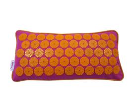 Flowee spijkermat kussen fuchsia oranje