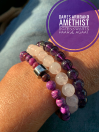 Dames armband Amethist 8mm Limited edition