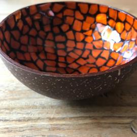 Kokos schaal Lak oranje