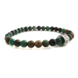 Dames armband chrysocolla 6 mm