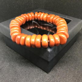 Roundel armband Jaspis rood