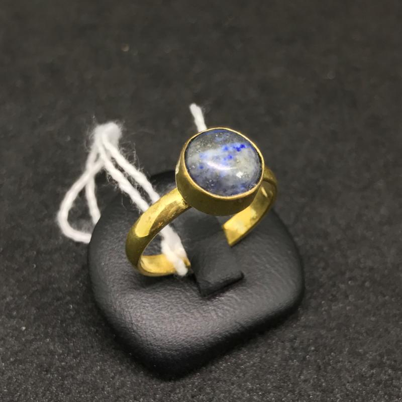 Vergulde ring met edelsteen Lapis Lazuli
